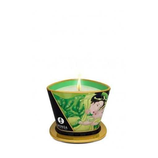 Shunga masszázsgyertya - zöld tea illattal - 170ml